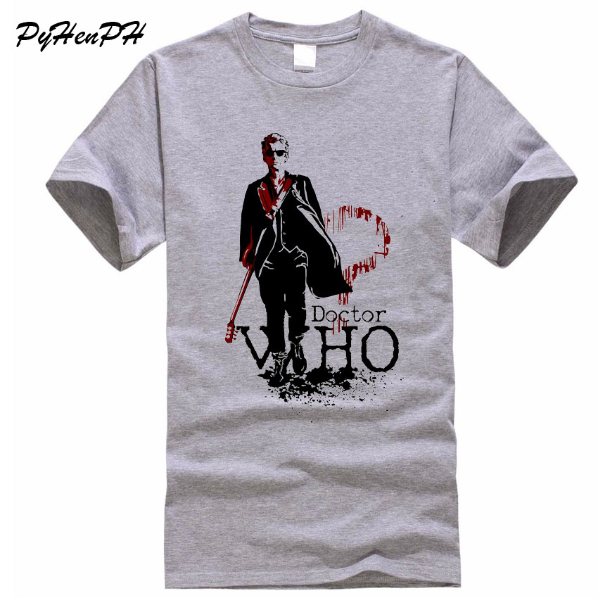 New 2018 Men Tshirt Fashion Doctor Who Design Cotton T Shirt Male Short Sleeve Mens Tees Tops Summer O-neck Shirts