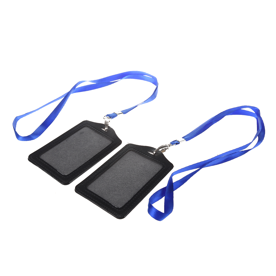 SODIAL(R) Faux Leather Business ID Badge Card Vertical Holders 2 Pcs
