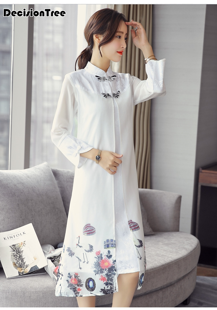 2019 summer chinese traditional dress women chinese dress qipao side slit cheongsam chinese style modern oriental dress