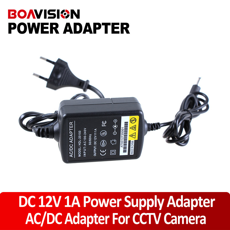 AC DC Adapter 12V 1A  switch CCTV Power Supply Adapter For CCTV Camera EU dc 12v 5a ac adapter cctv power supply adapter box 1 to 8 port for the cctv surveillance camera system abs plastic