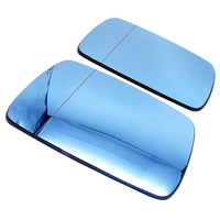 1 pair Car Side Rearview Mirror Glass Blue Lens With Heated for BMW E46 4 Door 1998 1999 2000 2006 Rear View Mirror Accessories