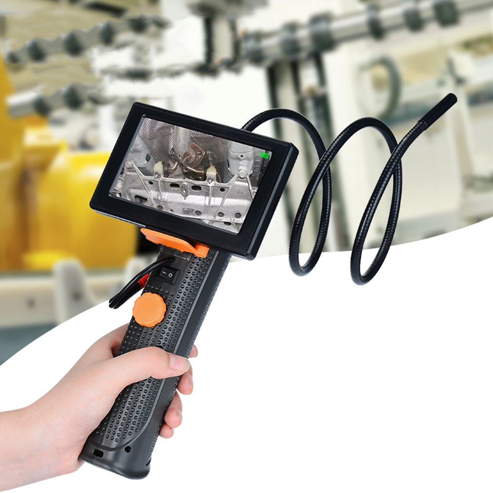 Professionnel De Poche 4.3 pouce Endoscope Serpent Endoscope Industriel D'inspection Vidéo Caméra Étanche