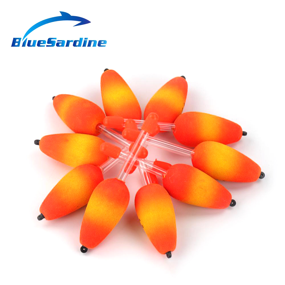 Bluesardine 10pcs Red Eva Floating Fishing Float Foam