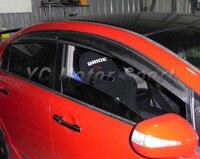 Автомобильные аксессуары  сухой отражатель ветра из углеродного волокна  4 шт.  подходит для 2006-2010 Civic Wind Deflector Car-stying