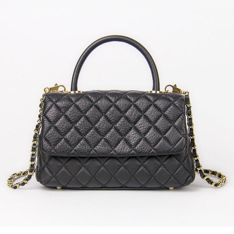 Sac en cuir véritable pour femme 2019 nouveau sac à main design de luxe en cuir de vachette première couche
