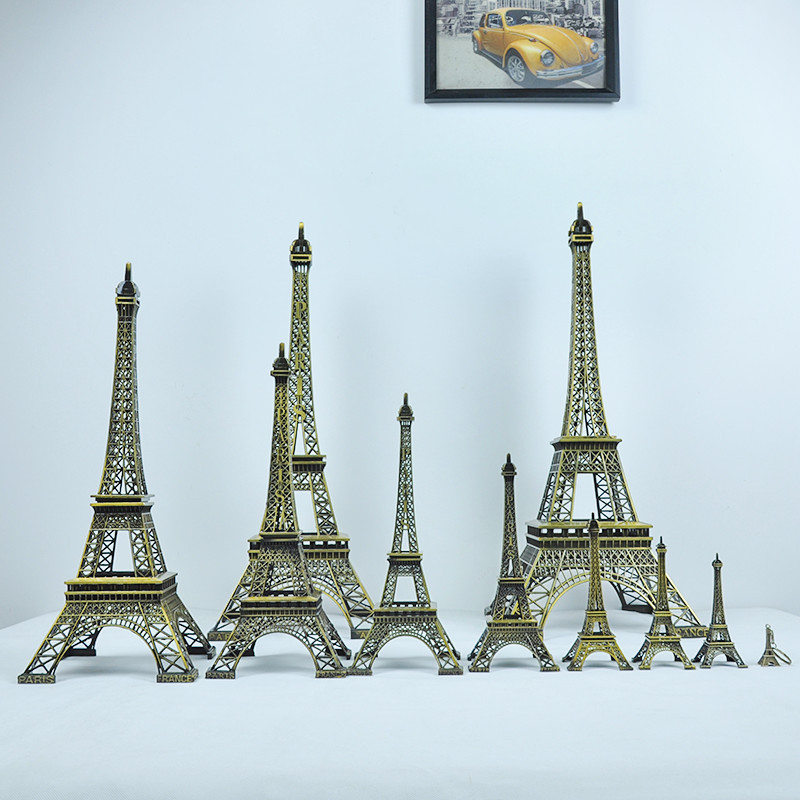 Paris Eiffel Tower Display Craft Mini Dollhouse Home Decor Figurine Statue Model Decors Christmas Gift In Figurines Miniatures