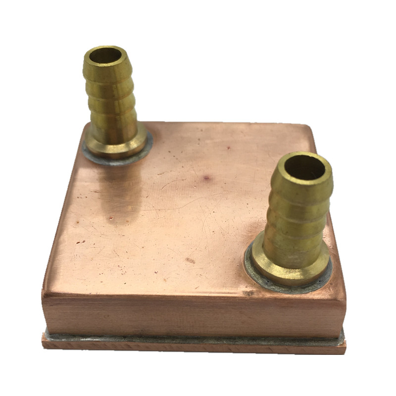 Flying-Elephant DIY pure copper CPU water cooling block , game machine water block all-welded 1444 Copper column bottom