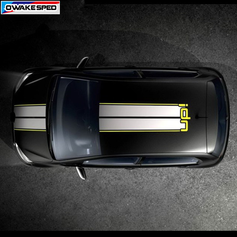 Racing Lines Vinyl Decals Car Tail Hood Roof Sticker For Volkswagen UP E UP Sport Styling Auto Body Decor Stickers-in Car Stickers from Automobiles & Motorcycles    1