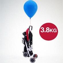 3,8 кг Ультра светильник вес детская коляска складная переносная четырехколесная коляска детская коляска высокий пейзаж детская коляска s