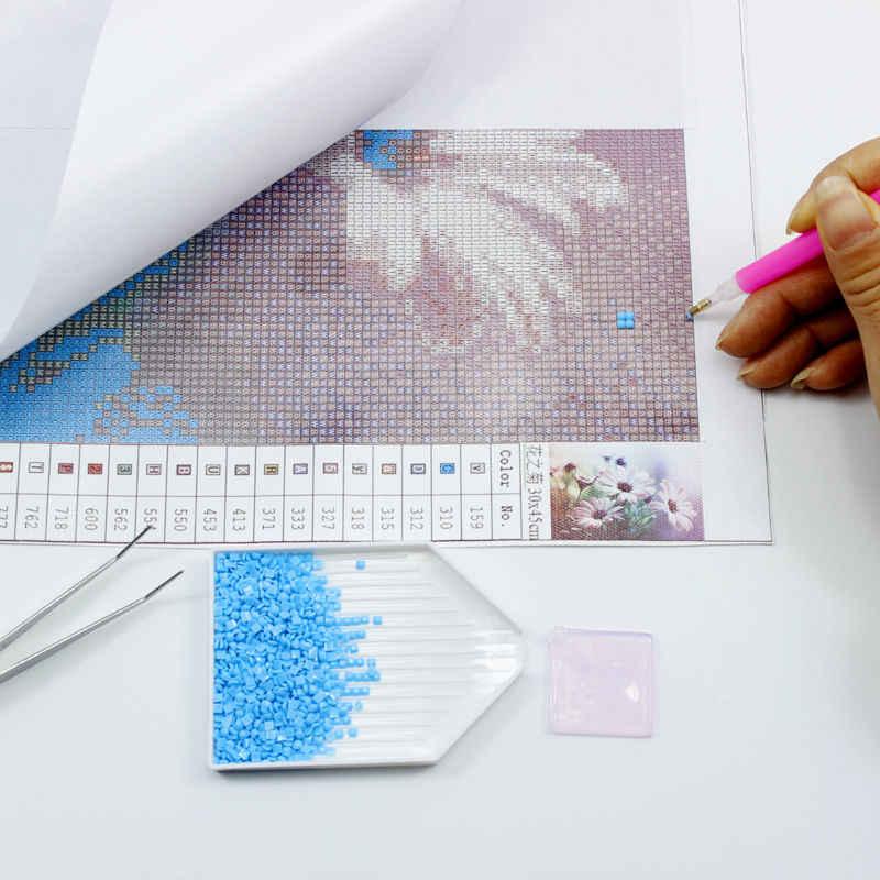花ドリームキャッチャーダイヤモンド刺繍diy針仕事ダイヤモンド塗装クロスステッチ5dフルラインストーン家の装飾羽ギフト