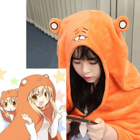 Japanese Anime Himouto Umaru Chan Cloak Doma Umaru Cosplay Costume Flannels Cloaks Home Dress Blanket Soft