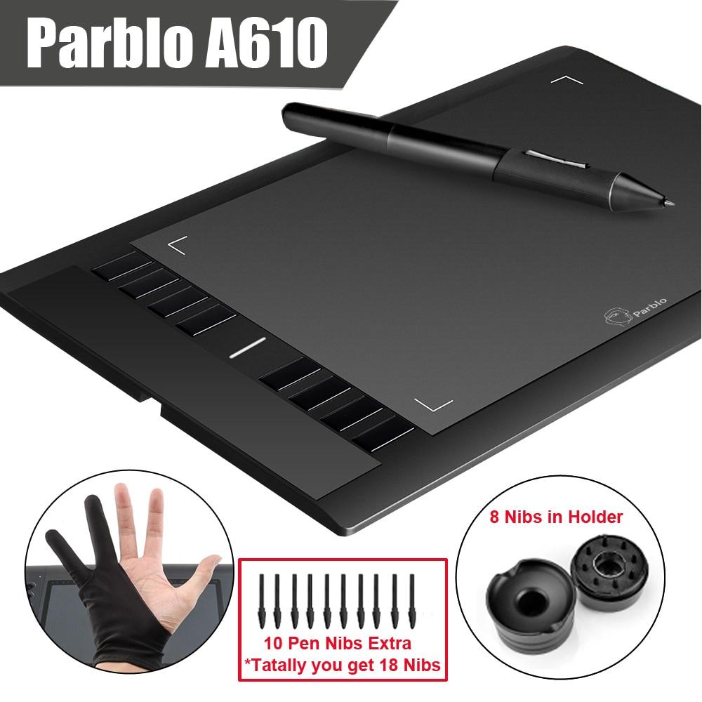 Parblo A610 10 Extra Nibs Digital Graphics Drawing font b Tablet b font 2048 Level Pen