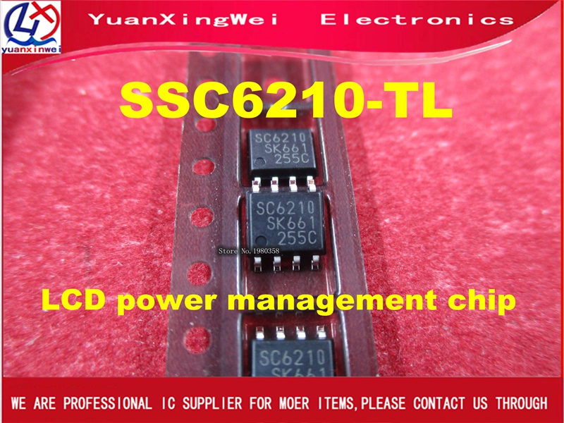 Freight free 10pcs 100% new original SSC6210-TL SSC6210 <font><b>SC6210</b></font> soic-8 pin LCD power management chip image