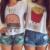 2017 Mulheres verão t shirt Tops de Culturas de manga curta casual o pescoço MELHOR AMIGO Fritas impresso t camisa top de algodão de moda top feminino