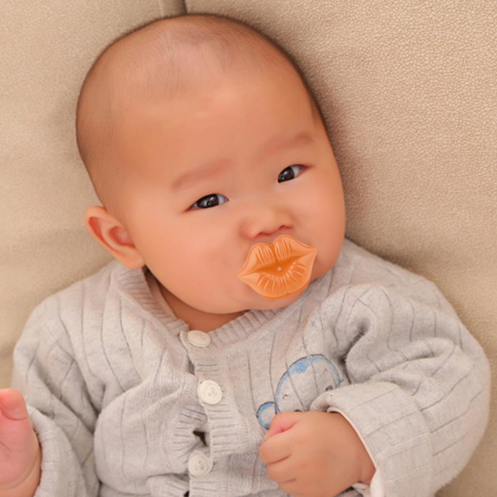 Lip Funny Nipple Dummy Baby Soother Joke Prank Toddler Pacy Orthodontic Nipples Baby Pacifier Care