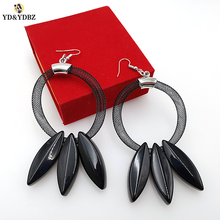 YD&YDBZ 2019 New Ladies Round Drop Earrings Tree Leaves  Simple And Stylish Womens Jewelry Very Nice Holiday Gift