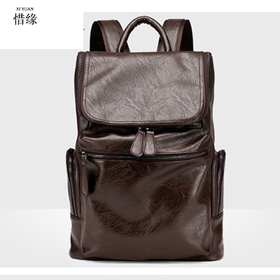 Mens Backpack Zipper Solid Men 100% Real Cow Leather Shoulder Latop Backpacks Travel Notebook Computer Bag Boys for Business