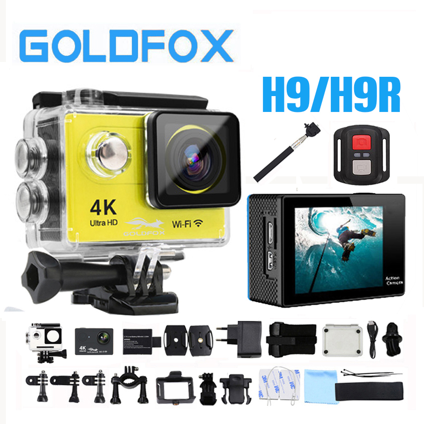GOLDFOX Ultra 4K Wifi Action Camera 12MP 1080P 60FPS Full HD Outdoor Sport Video Camera 30M Go Waterproof Pro Sport DV Bike Cam eken h8 h8r ultra hd 4k 30fps wifi action camera 30m waterproof 12mp 1080p 60fps dvr underwater go helmet extreme pro sport cam