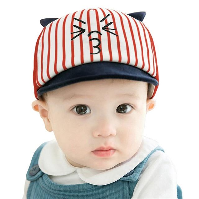 d1d527d6c241 Baby Hat Cartoon Cute Cats Kids Baseball Hat Baby Boy Beanie Summer ...