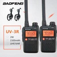 2PCS BAOFENG UV 3R Mini Walkie Talkie clip UHF VHF Two Way Radio Station UV3R Transmitter Mobile HF Comunicador Ham Woki Toki ham radio antenna switch