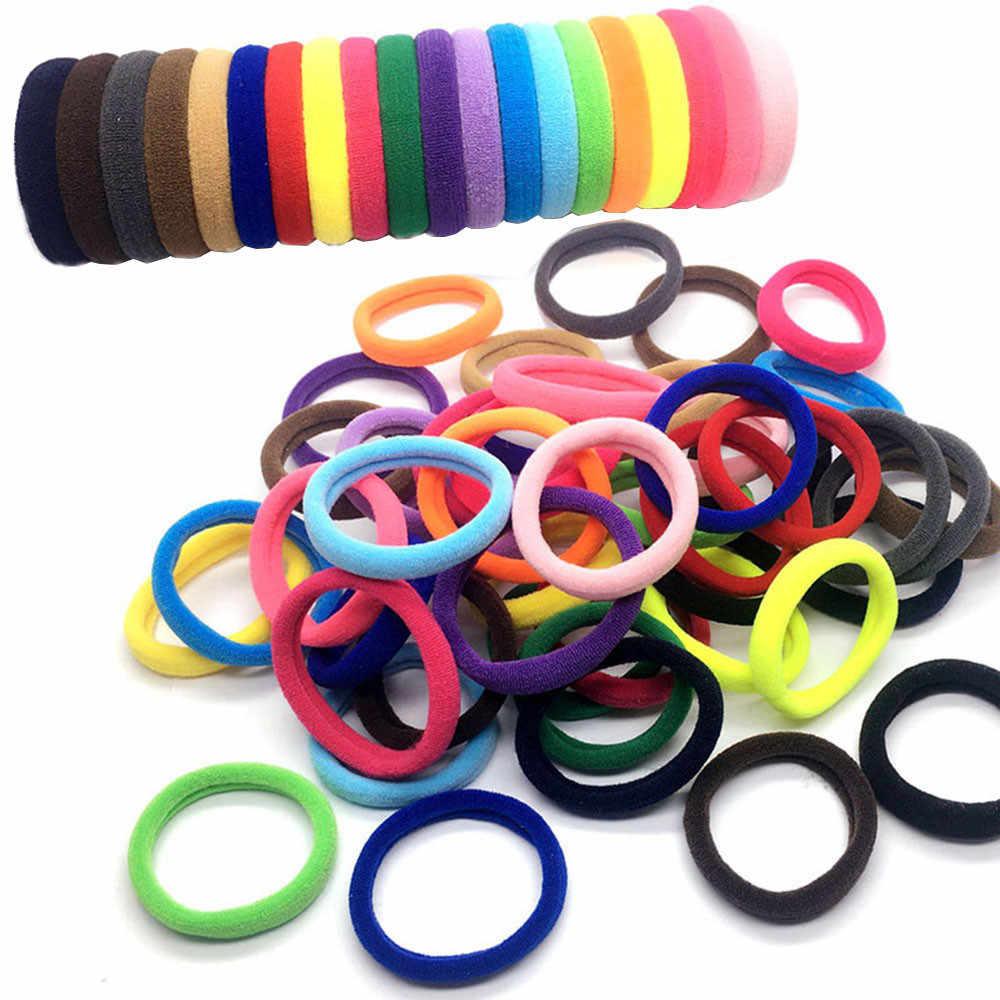 หญิง Elastics ยาง Band Ties/แหวน/เชือกอุปกรณ์เสริมผม Scrunchie Headdress 3 ขนาด (30 PCS/50 ชิ้น) สีผสม # 40Q