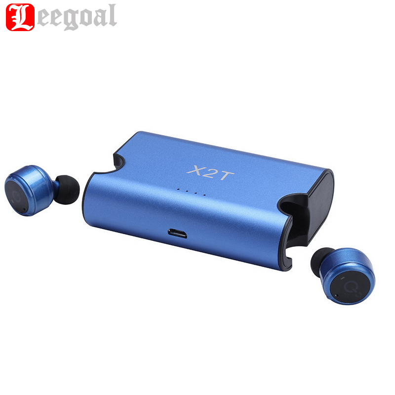 True wireless earbuds TWS X2T Mini Headset Bluetooth V4.2 Earphone With 1500mAH Charging Box Case for iphone and android and X1T wireless bluetooth headset two mini earphone together separate use stereo earbuds with charging dock for iphone android phone