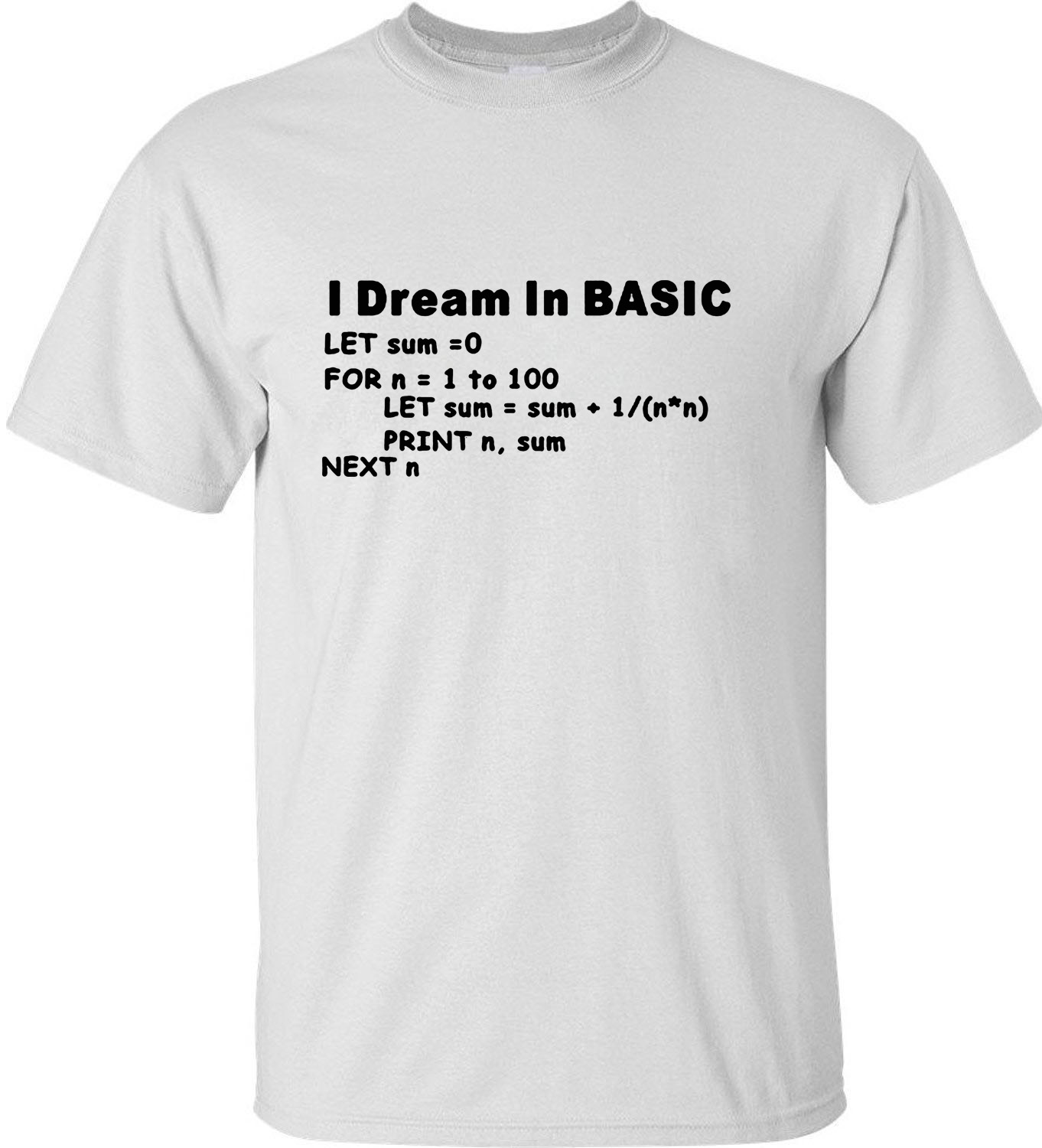 New Style Basic Programming Language Computer T-shirt Retro Video Game Funny Short Sleeve Men Casual Top Tees