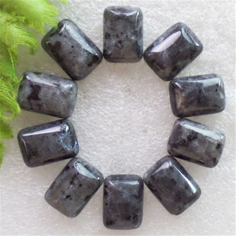 (12 pieces/lot) Wholesale Natural Larvikite Oblong CAB Cabochon 18X12X5mm Free Shipping Fashion Jewelry J161