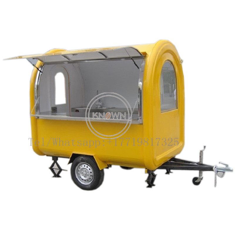 220CM Long Food Cart Mobile Hot Dog Carts Fast Food Truck Price
