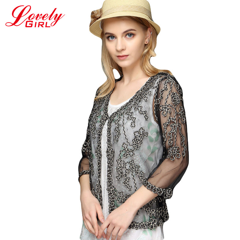 Kimono Fashion Cardigan 2018 New Arrivals Women Blouse Shirt 3 Colors ნაქარგები Cardigans პერსპექტივა Shawl Lace Boleros Blusas