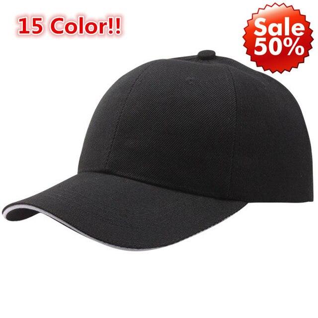 15 צבע!! קיץ אופנה Soild נשים גברים בייסבול כובע Snapback כובע HipHop מתכוונן מגניב קש casquette gorras הנמוך ביותר מחיר