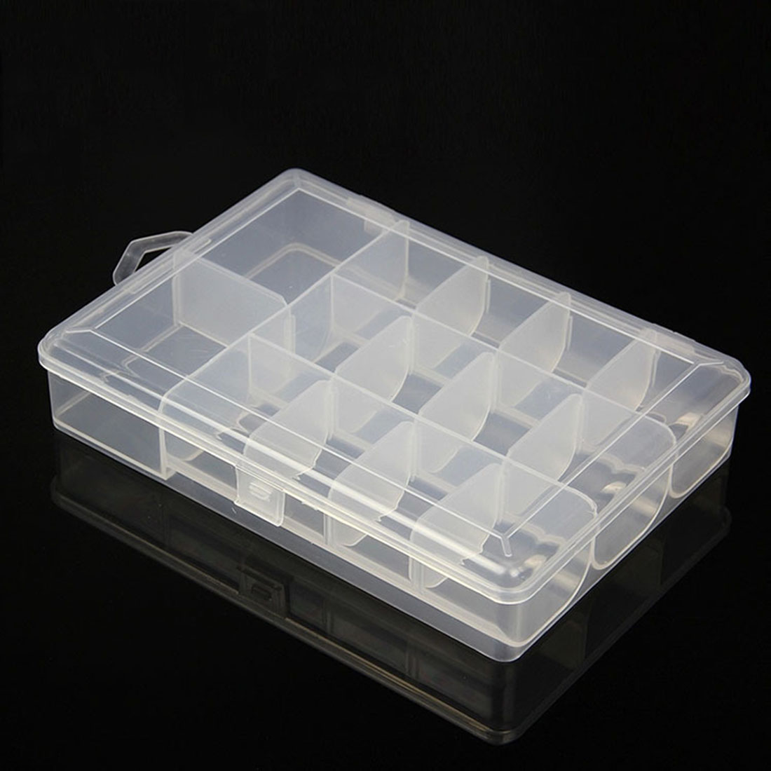 YYEDC Multifunctional Visible Plastic Detachable 14Slots Fishing Lure Bait Hooks Tackle Accessory Slots Storage Box Case