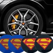 CDIY 4pcs/sets 56.5mm for Superman Car Wheel Center Hub Caps