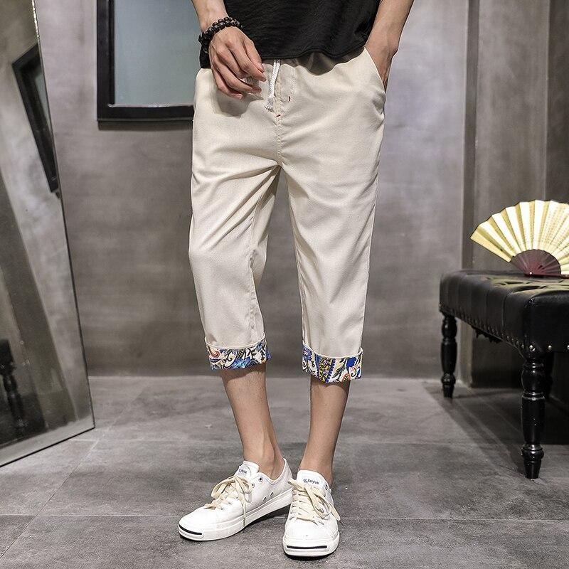 2019 Sinicism Men's Casual Pants Cotton Hip Hop Ankle-Length Men Pencil Pants Black ArmyGreen Fashion Casual Trousers S-XXXL