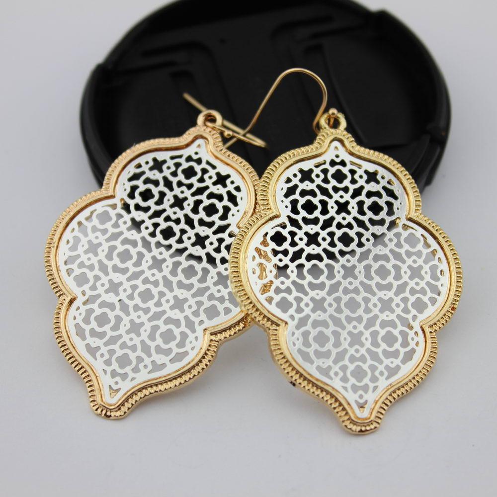 Two Tone Perak Filigree Maroko Earrings untuk Wanita 2018 Hot - Perhiasan fashion - Foto 6