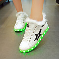 2017 New Women Lighted Shoes For Adults Winter Shoe Fur Glow Led Usb Schoenen Charging Luminous Casual Zapatillas Led Hombre