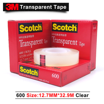 3M 600 scotch transparent gummed paper single sided tape 12.7mm*32.9M 50pcs/lot we can offer you other size and item