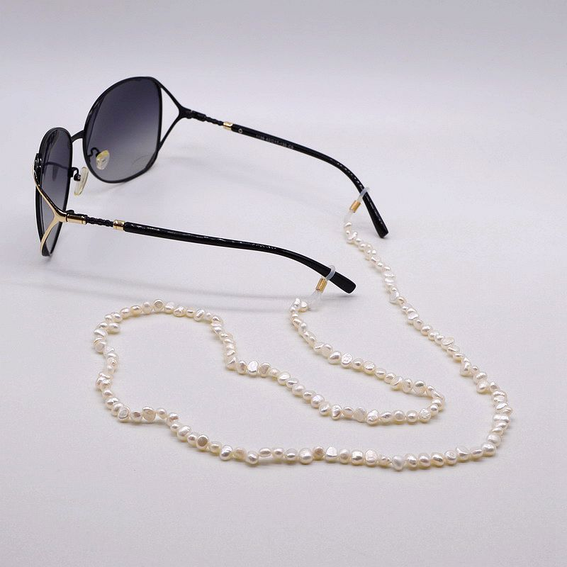 Personalized Baroque Pearl Glasses Insurance Chain. Natural Baroque Pearls. Handmade Pearl Glasses Insurance Chain