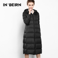 2015 New Hot Winter Cold Thicken Warm Woman down jacket Coat Parkas Outerwear Hooded Slim Luxury Mid Long Plus L High-end