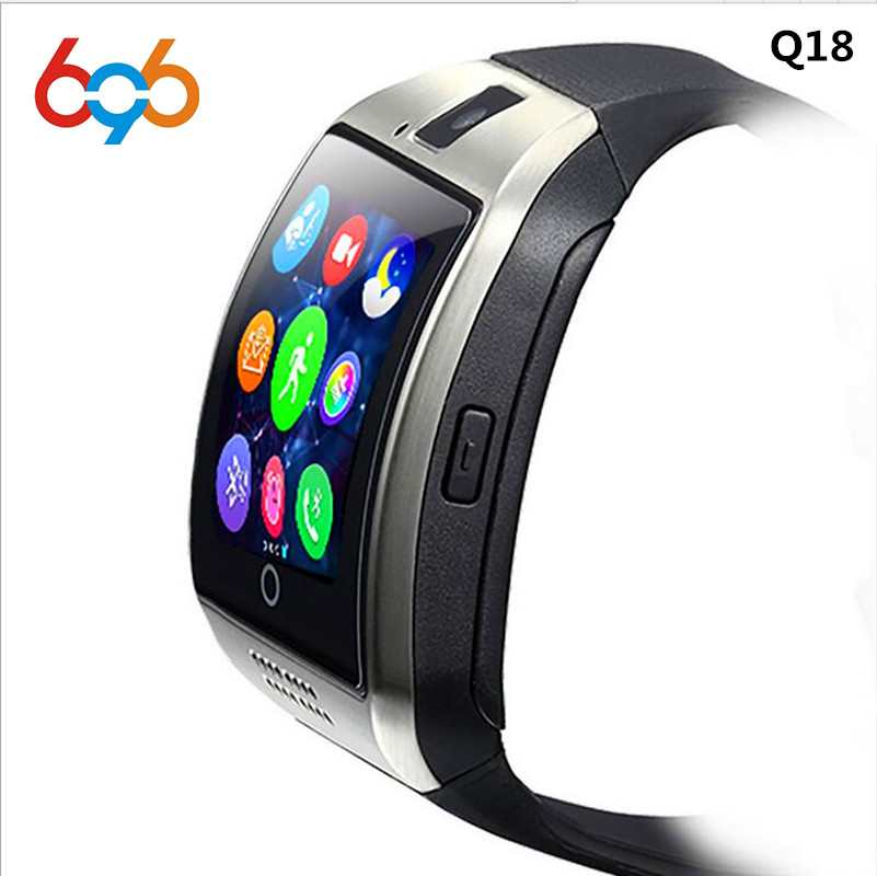 Smartch Bluetooth Smart Watch in Q18 Con La Macchina Fotografica Whatsapp Facebook Twitter Sync SMS SIM carta di Tf di Sostegno Smartwatch Per IOS Android