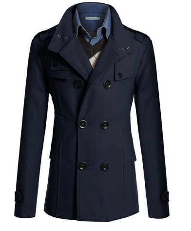 Solid Woolen Trench Coat Men Promotion-Shop for Promotional Solid ...