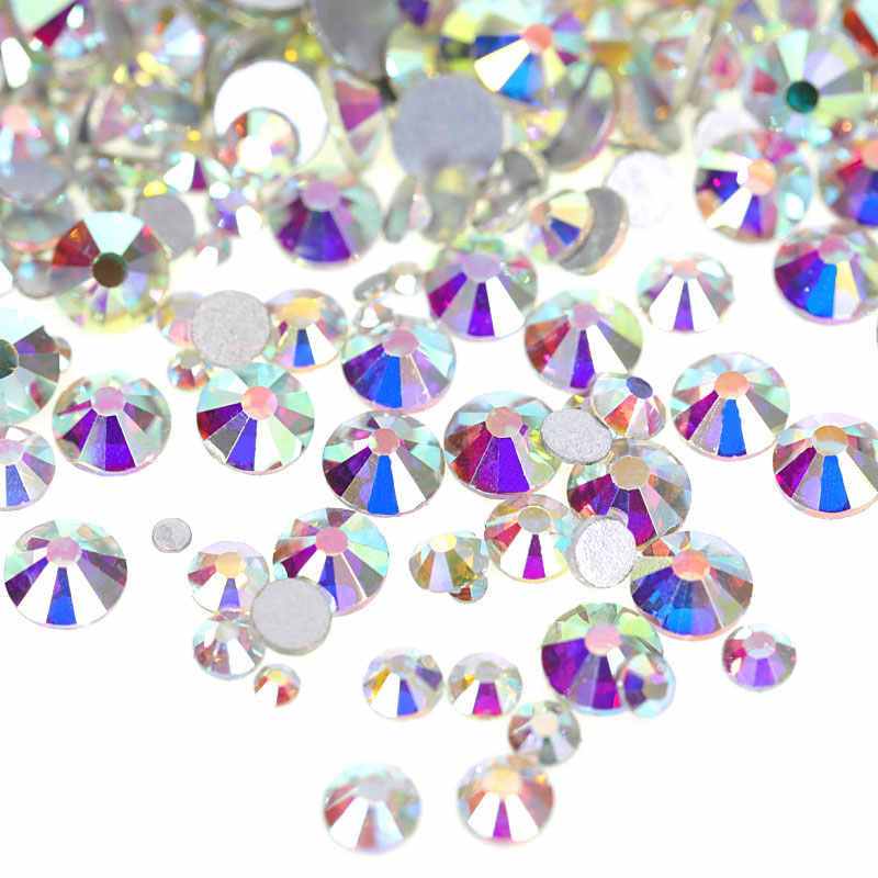 2028 SS3-SS50 Glass Crystal AB Non Hot Fix Rhinestones Crystal AB Glass  Strass Glitter 53457634a8c9