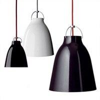20-40 см современный минималистский одна голова черный/белый подвесные светильники Караваджо лампа тройничного алюминиевый Ресторан