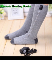 JPR Outdoor Carbon Fiber Far Infrared USB 5V 110 220V Electric Heated Socks Foot Back Or