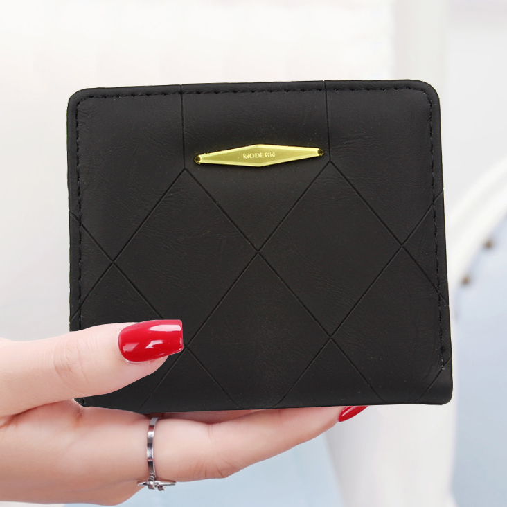 Short Lady Purses ID Cards Holder Women Wallets Fold Solid Brand Purse PU Leather Money Bags Woman Wallet Girls Pocket Pouch Bag canvas male purses wallet cards id holder mens short wallets hasp zipper money bags change coin purse fold pocket notecase bag