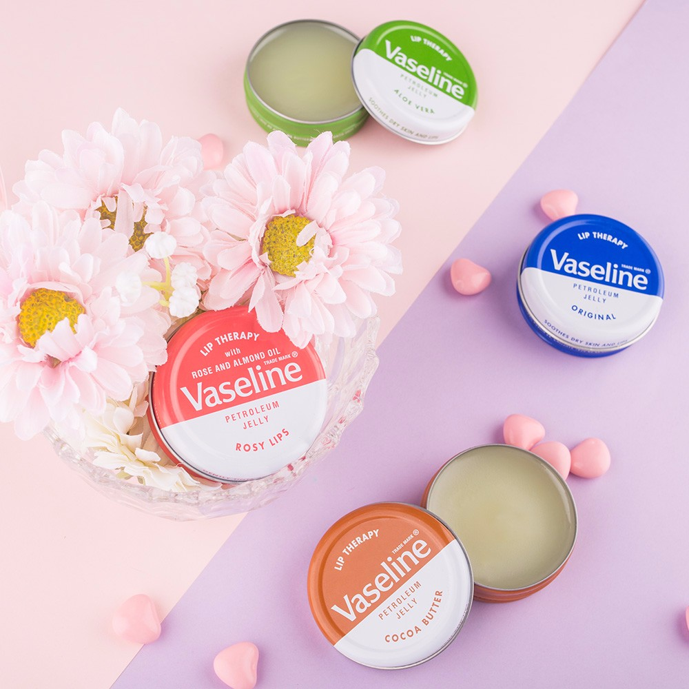 Buy Original Product From Uk Vaseline Lip Balm 20g Therapy Rosy 7g Usa 100 4 Kinds Aloe Vera Cocoa Butter Lips And Reliable