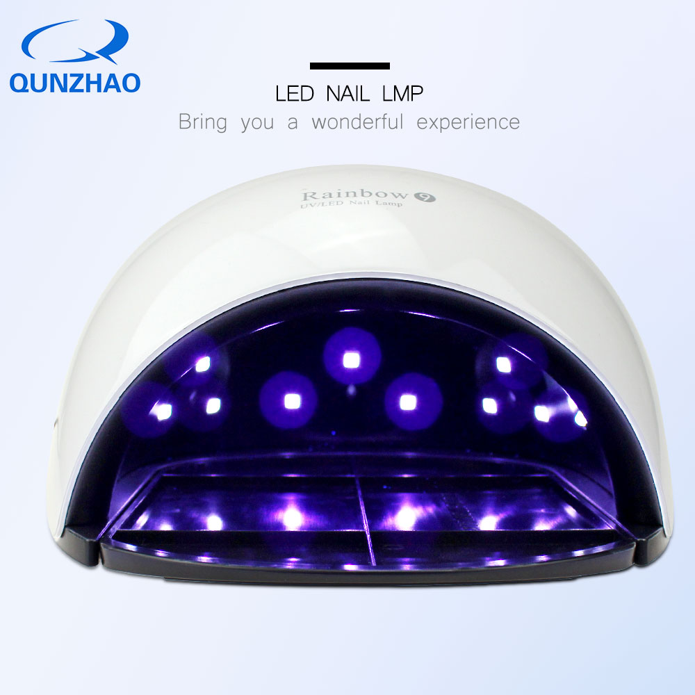 Rainbow9 Nail Dryer Lamp for Gel varnish Machine For Manicure 48W UV LED Nail Polish Curing Lamp Nail Dryer lampas de led nail clipper cuticle nipper cutter stainless steel pedicure manicure scissor nail tool for trim dead skin cuticle