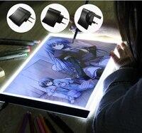 YIKEXIN Ultrathin 3 5mm A4 LED Light Tablet Pad Apply To EU UK AU US USB