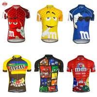 Hommes M & M cyclisme jersey vêtements de vélo à manches courtes vélo vêtements vtt ropa Ciclismo respirant maillot extérieur vélo vêtements