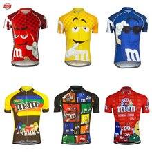 Mężczyźni jazda na rowerze jersey odzież rowerowa z krótkim rękawem odzież rowerowa MTB ropa Ciclismo oddychająca maillot rower do jazdy na świeżym powietrzu ubrania